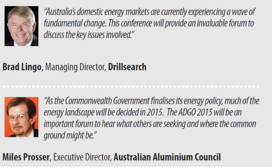australian domestic gas outlook 2015 conference sydney march