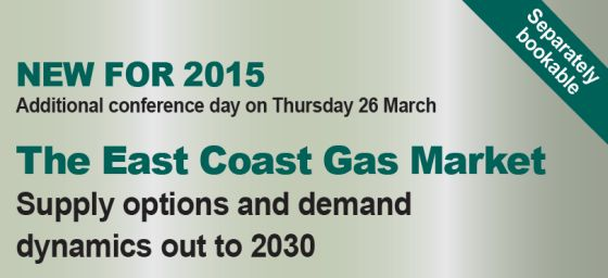 East Coast Gas Market  conference day on demand and supply challanges to 2030