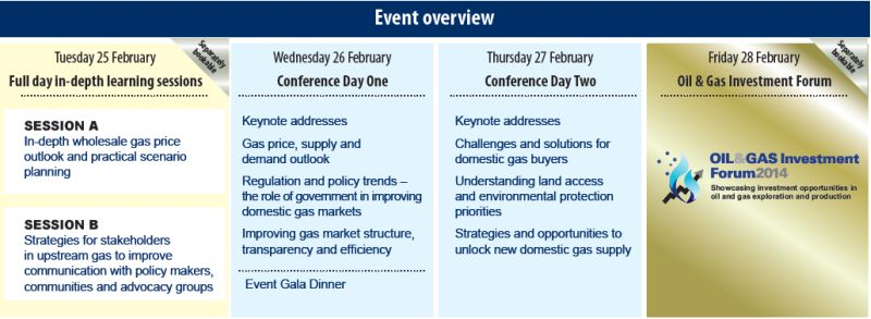 Australian Domestic Gas Outlook Conference Sydney 2014 - event overview