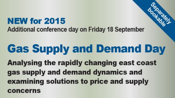 Eastern Australias Energy Markets Outlook 2015 conference Sydney - Gas Supply and Demand Day