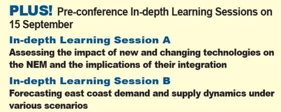 Pre-Conference In-depth Learning Sessions - Eastern Australia's Energy Markets Outlook 2015 conference Sydney