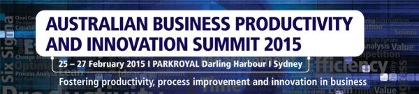 The Australian Business Productivity and Innovation Summit 2015