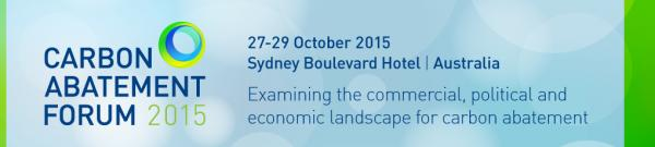 Carbon Abatement Forum 2015 conference Sydney October